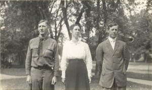 1916 - David Morgan Wright, Alice Mary Wright Reece and George William Wright